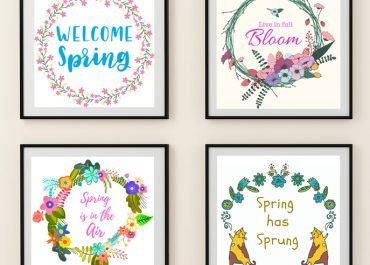 Free Printable Spring Quote Wall Art