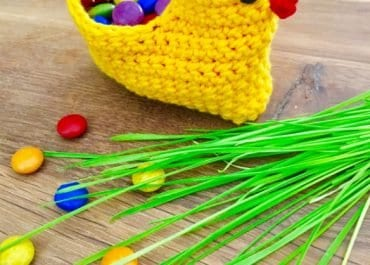 Chick Easter Basket Crochet DIY