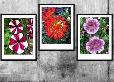 Free Printable Spring Flowers Pop Art Wall Decor