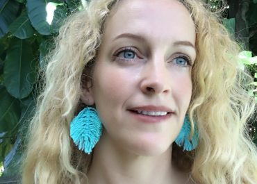 DIY Macrame Feather Earrings