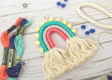 DIY Rainbow Wall Hanging tutorial