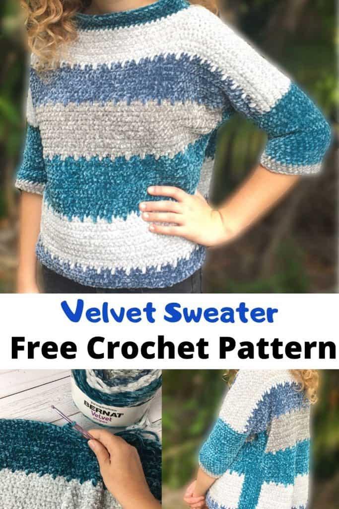 Free Crochet Pattern Velvet Sweater Crafting On The Fly