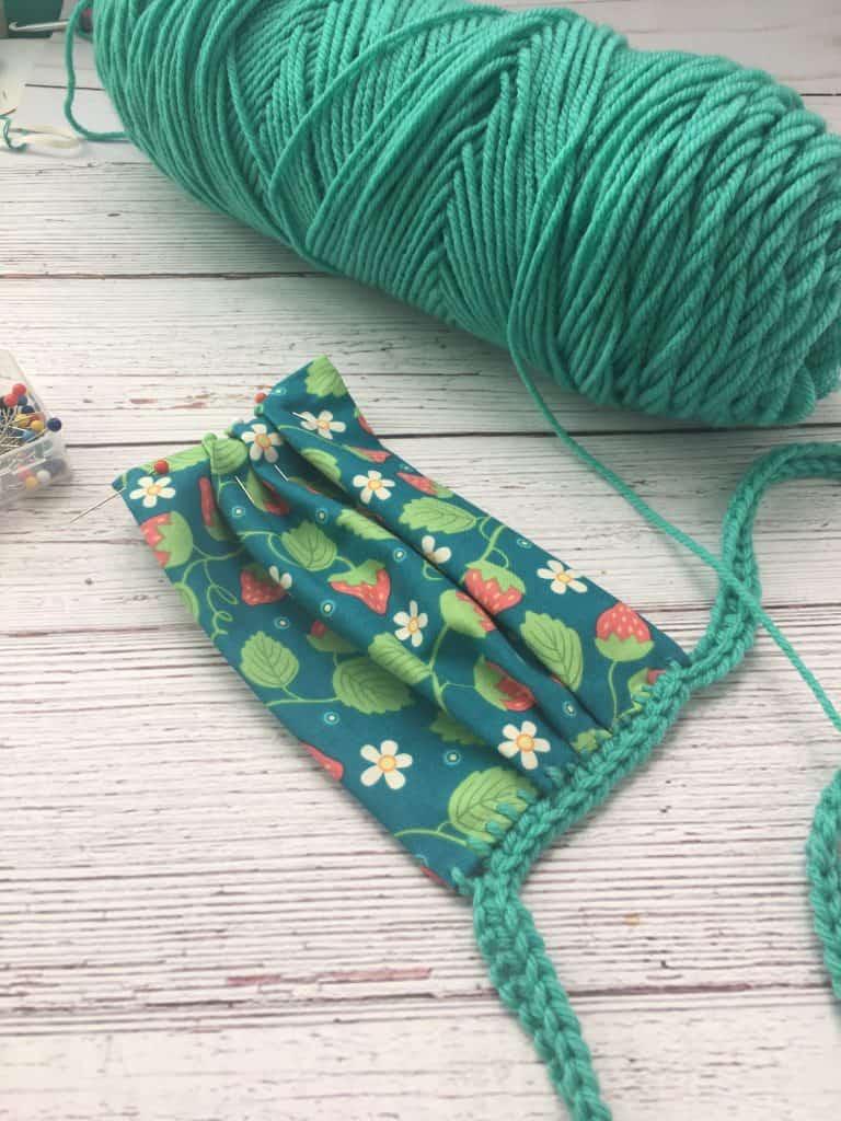 No Sew Face Mask DIY Fabric Crochet Tutorial
