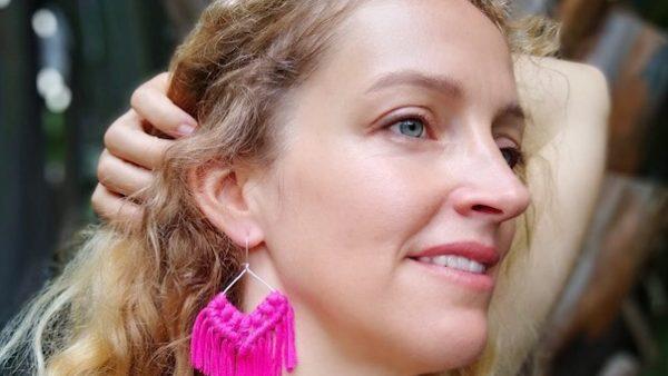 Free Macrame Earring Pattern