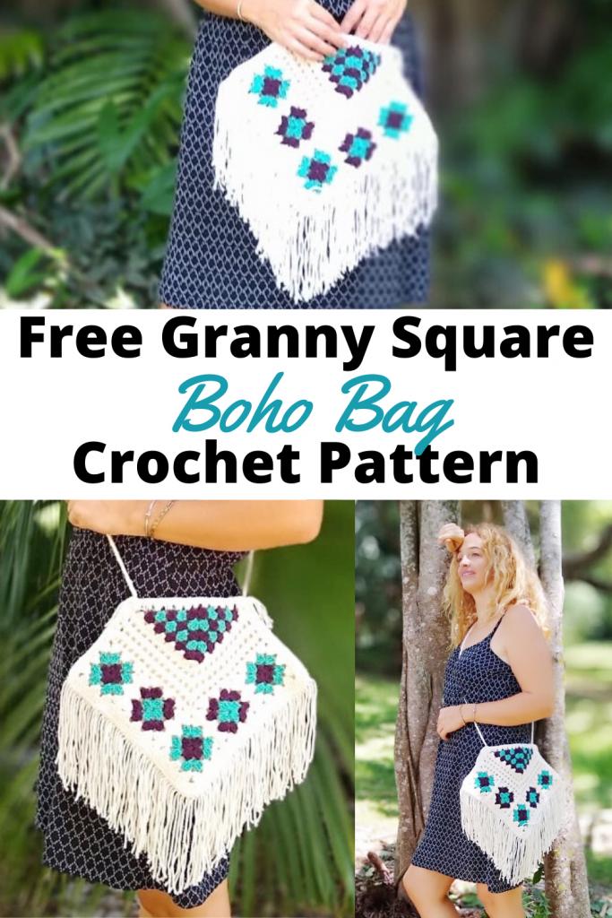 Granny Square Boho Bag Crochet Pattern