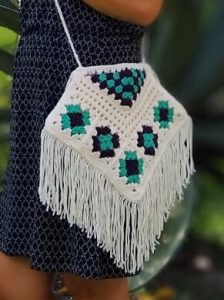 Granny Square Boho Bag Crochet Pattern